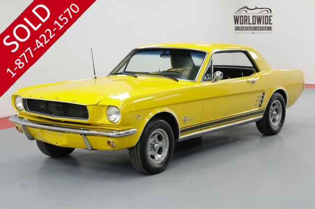 1966 FORD MUSTANG RESTORED 4-SPEED 302V8 DISC