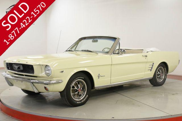 1966 FORD  MUSTANG 289V8 4-SPEED PS PB FRONT DISC BRAKES
