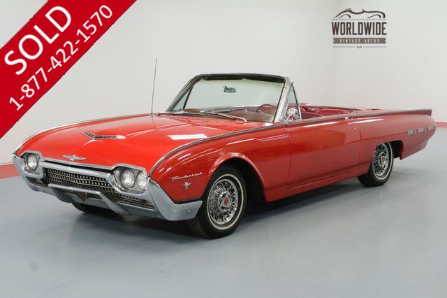 1962 FORD THUNDERBIRD CONVERTIBLE ROADSTER 390V8 AUTO POWER TOP