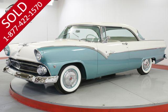 1955 FORD VICTORIA  2 DOOR HARDTOP RESTORED 292 V8 3-SPEED