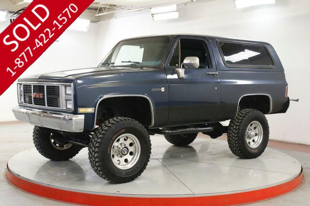 1985 GMC JIMMY BUILT V8 4X4 LIFT PS PB CONVERTIBLE