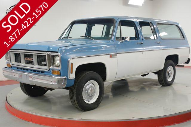 1974 GMC  SUBURBAN 4x4 COLLECTOR 17K ORIGINAL MILES 1 OWNER
