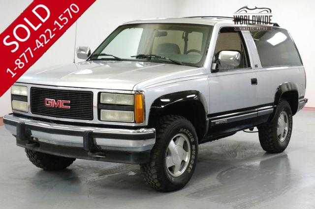 1993 GMC YUKON BLAZER. ONE OWNER! 81K ORIGINAL MILES! 4x4.