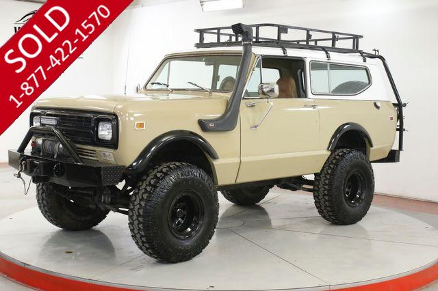 1980 INTERNATIONAL SCOUT II RARE LAST YEAR TX TRUCK LIFT SNORKEL RACK