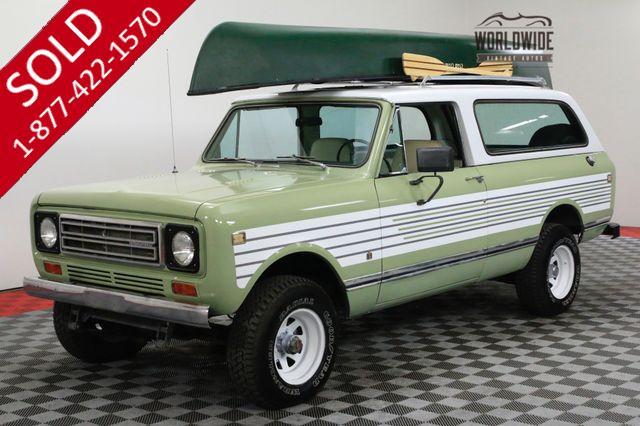 1977 INTERNATIONAL SCOUT 345 V8 AUTO RARE TRAVELER CONVERTIBLE 4x4!