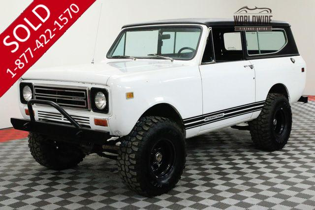 1979 INTERNATIONAL SCOUT BUILT! V8 AUTO 4X4. CONVERTIBLE
