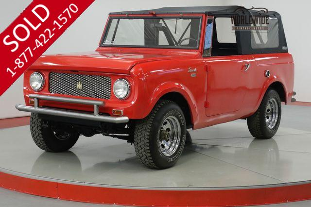 1964 INTERNATIONAL  SCOUT  NEW SOFT TOP- ALL WHEEL DRIVE. CLEAN!