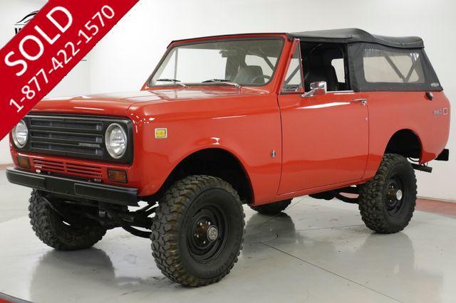1972 INTERNATIONAL SCOUT  4x4 CONVERTIBLE V8 PB 66K MILES CA TRUCK