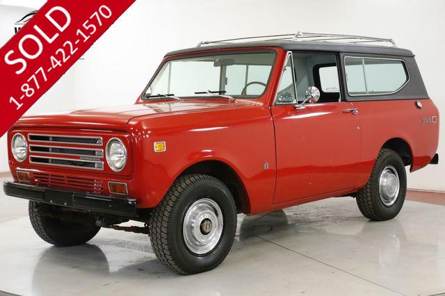 1972 INTERNATIONAL  SCOUT  II 4x4 CONVERTIBLE 345 V8 PS PB COLLECTOR