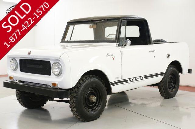 1967 INTERNATIONAL  SCOUT  800 4x4 RARE FACTORY V8 FOLDING WINDSHIELD