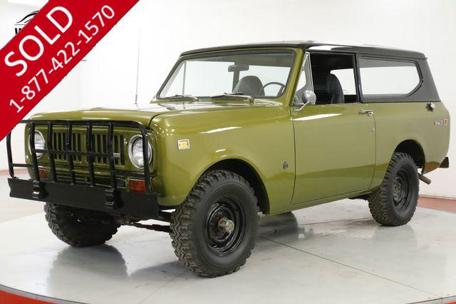 1973 INTERNATIONAL  SCOUT  V8 4x4 REMOVABLE HARDTOP NEW PAINT
