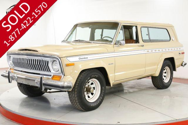 1977 JEEP CHEROKEE CHIEF 4X4 PS PB AC RARE FACTORY 401 V8