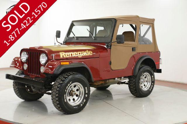 1978 JEEP CJ-5 RENEGADE 304 V8 MANUAL 4X4 PS PB CONVERTIBLE TOP