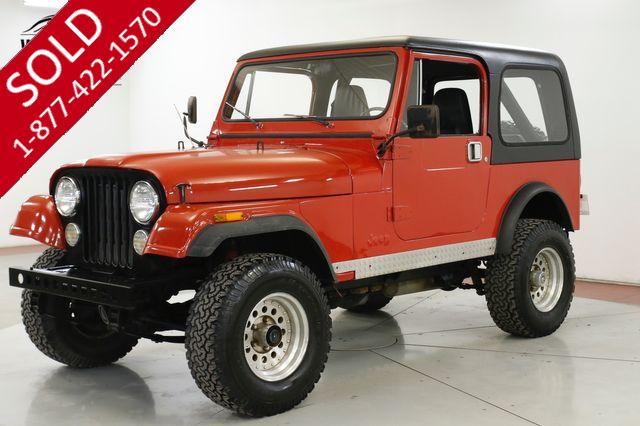 1985 JEEP  CJ7 4.2L CONVERTIBLE TOP CLEAN AUTOCHECK PS