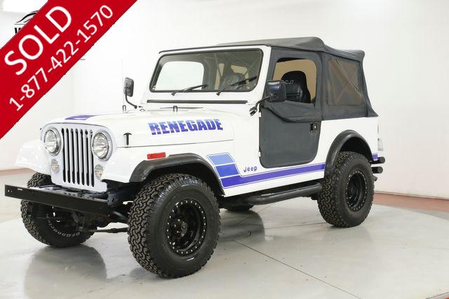 1984 JEEP CJ7 RENEGADE 4X4 PS PB NEW PAINT DISC