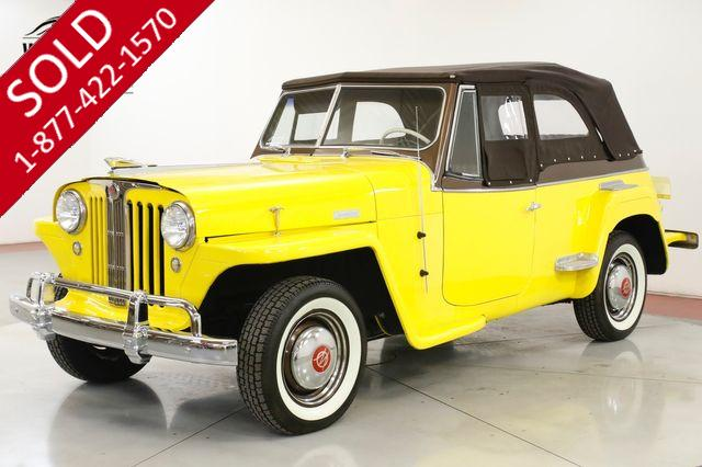 1949 JEEP JEEPSTER FRAME OFF RESTORATION LOTS OF CHROME