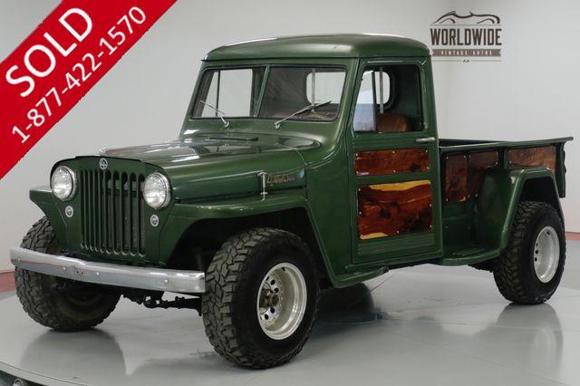 1949 JEEP WILLYS RESTORED HOT ROD V8 WILWOOD DISC BRAKES PSPB