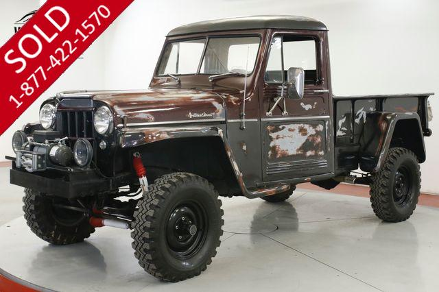 1960 JEEP WILLYS 4x4 INCREDIBLE PATINA CA TRUCK WINCH LIFT PS