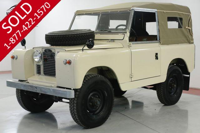 1964 LAND ROVER IIA RARE. RESTORED SOFT TOP NEW PAINT & INTERIOR