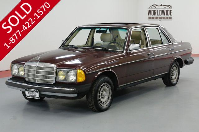 1975 MERCEDES-BENZ 300D TURBOCHARGED INLINE 5 CYL AUTOMATIC