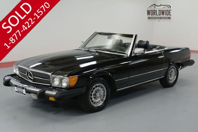 1979 MERCEDES BENZ 450SL TRIPLE BLACK! EXTREMELY LOW MILES. TWO TOPS.