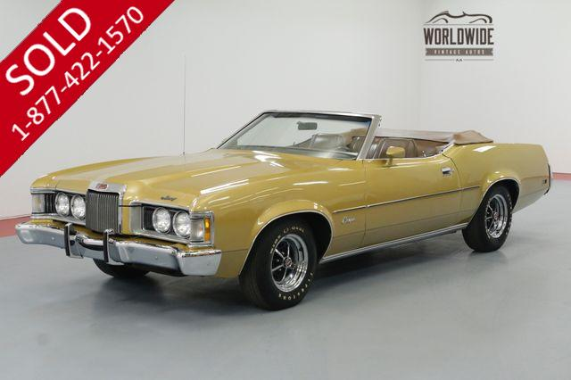 1973 MERCURY COUGAR XR-7   RX-7 CONVERTIBLE 351CJ 4 SPEED