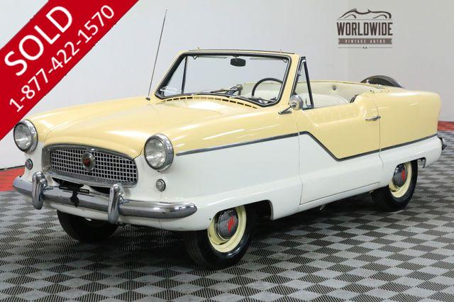 1960 METROPOLITAN NASH CONVERTIBLE TWO TONE 4 CYLINDER MUST SEE