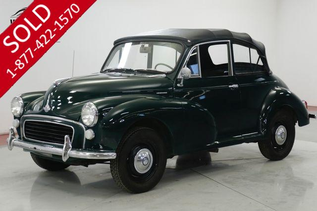 1967 MORRIS MINOR 1000 RARE CONVERTIBLE PERFECT FOR THE SUMMER