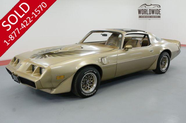 1979 PONTIAC FIREBIRD TIME CAPSULE. 6.6 V8 T-TOP AC BUILD SHEET