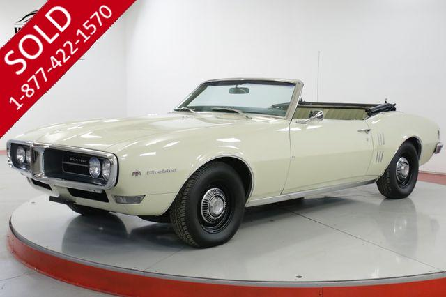 1968 PONTIAC  FIREBIRD CONVERTIBLE PS PB ORIGINAL