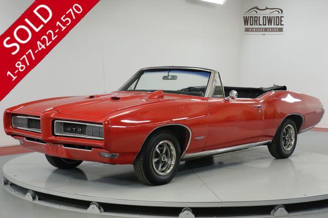 1968 PONTIAC GTO RESTORED! REAL 242 VIN. CONVERTIBLE. RARE. (VIP)