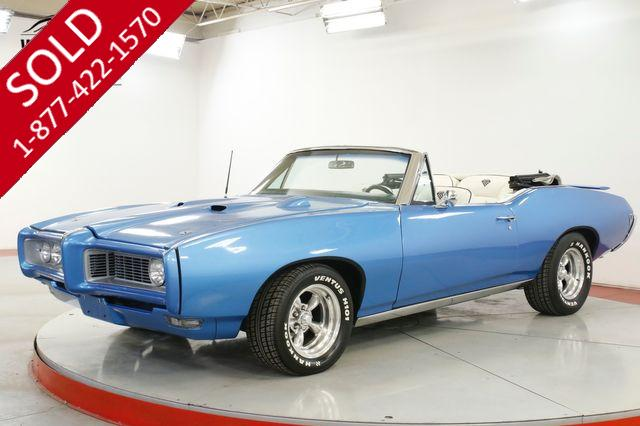 1968 PONTIAC GTO BODY-OFF RESTORED CONVERTIBLE AC 400 V8 PS