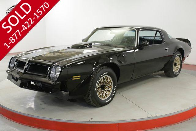 1976 PONTIAC  TRANS AM RARE 4 SPEED BLACK/BLACK V8 NEW PAINT BANDIT