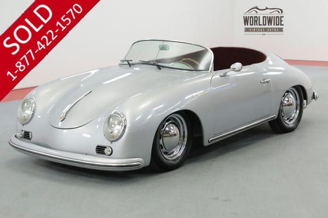 1957 PORSCHE SPEEDSTER HIGH END BUILD 163 MILES 4 WHEEL DISC 1600CC