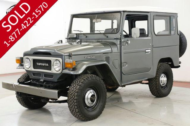 1980 TOYOTA  FJ40  RARE 4X4 TWO TONE 4 SPEED JUMP SEATS PB PS