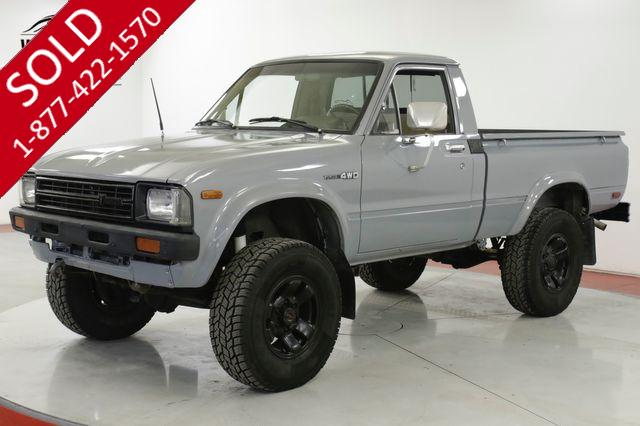 1982 TOYOTA HILUX 22R! 4-SPEED 4x4 SHORT BED NEW PAINT PB