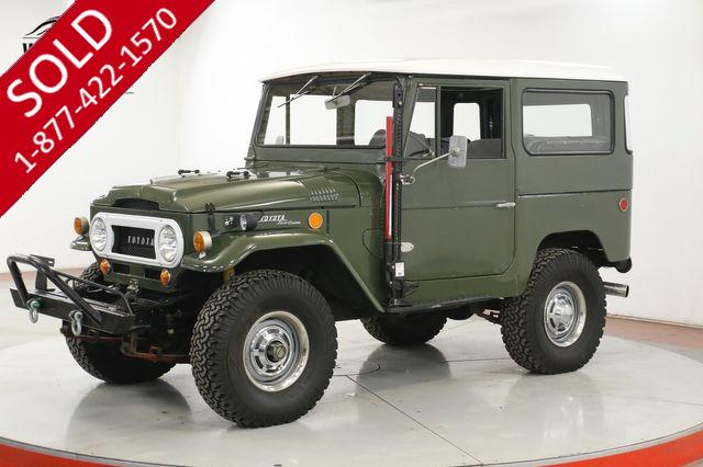 1969 TOYOTA LAND CRUISER FJ40 INLINE 6 3 SPEED DUAL CARB