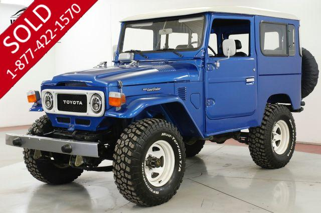 1985 TOYOTA  LAND CRUISER  FJ40 EXTENSIVE FRAME OFF RESTORED AC! PS PB