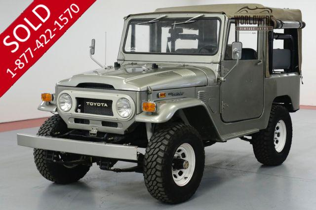 1974 TOYTOA LAND CRUISER FJ40. FRAME OFF RESTORED. RARE SOFT TOP PB