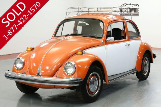 1974 VOLKSWAGEN BEETLE CRUISER. TWO TONE. RACK. FUN!