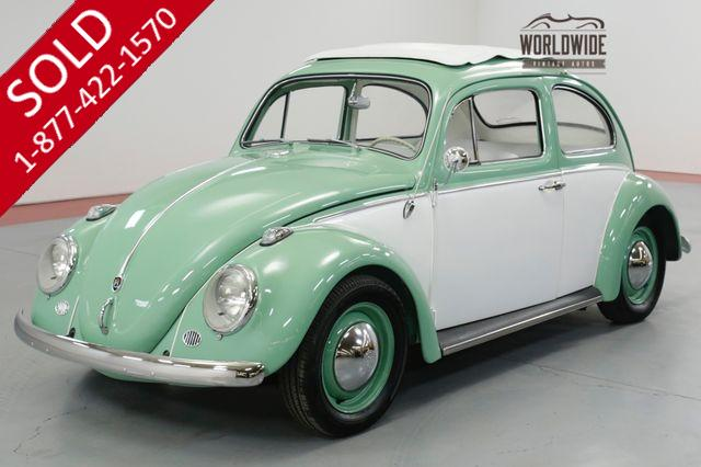 1960 VOLKSWAGEN BEETLE FULLY RESTORED. RARE. DISC BRAKES. SHOW OR GO