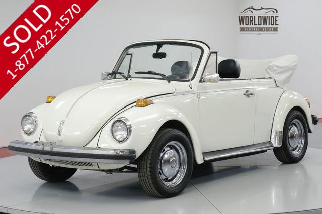 1977 VOLKSWAGEN BEETLE BUG. CONVERTIBLE. COLLECTOR. 42K ORIGINAL! (VIP)
