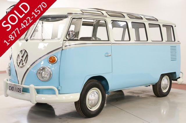 1975 VOLKSWAGEN KOMBI CHROME LUXO TRIM MANUAL 23 WINDOWS MICRO BUS