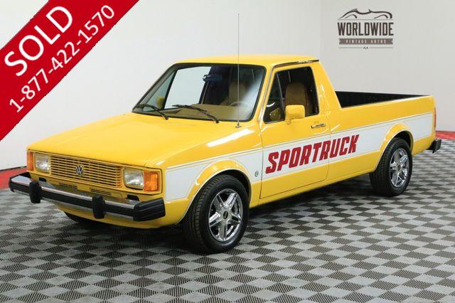 1981 VOLKSWAGEN RABBIT PICKUP RARE SPORT MODEL RESTORED ONLY MADE 4 YEARS