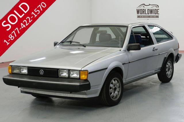 1982 VOLKSWAGON SCIROCCO ONE OWNER. VERY CLEAN. COLLECTOR QUALITY.