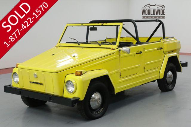 1971 VOLKSWAGON THING COLLECTOR CONVERTIBLE! DRY WY CAR. DRIVER!
