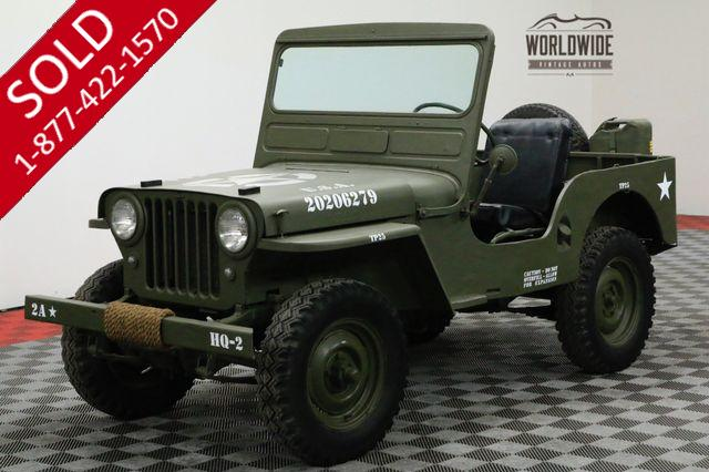1948 WILLYS CJ2A RESTORED 4X4 COLLECTOR MILITARY