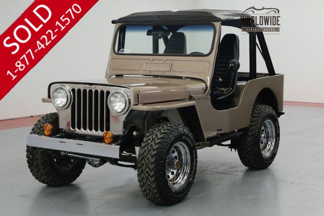 1948 WILLYS  CJ2A 327V8! 4-SPEED W/OVERDRIVE. 4X4. SOFT TOP.