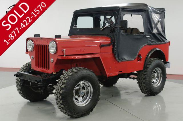 1962 WILLYS  CJ3B F HEAD 4 CYLINDER PS 4X4 CONVERTIBLE TOP