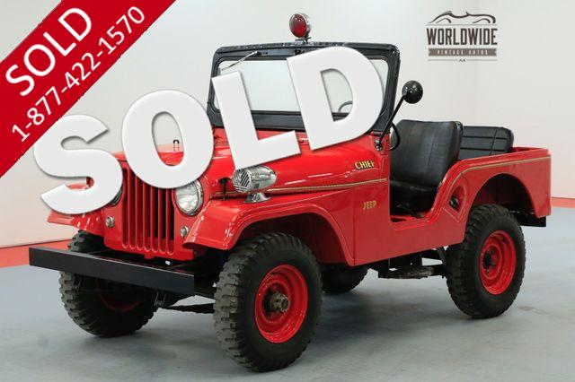 1962 WILLYS CJ5  FIRE CHIEF RARE COLLECTABLE